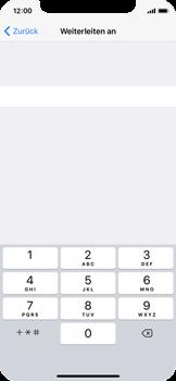 Apple iPhone X - Anrufe - Rufumleitungen setzen und löschen - Schritt 6