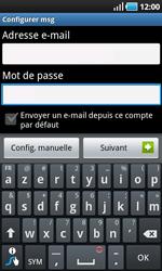 Samsung I9000 Galaxy S - E-mail - Configurer l