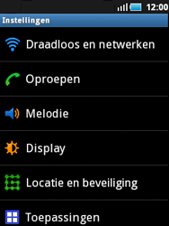Samsung S5570 Galaxy Mini - wifi - handmatig instellen - stap 4
