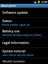 Samsung Galaxy Pocket - Software - Installing software updates - Step 6