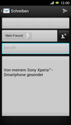 Sony Xperia J - E-Mail - E-Mail versenden - 0 / 0