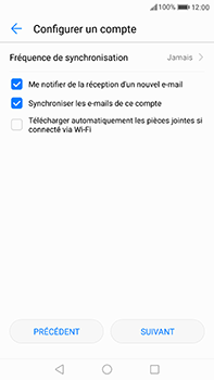 Huawei P10 Plus - E-mail - 032b. Email wizard - Yahoo - Étape 7