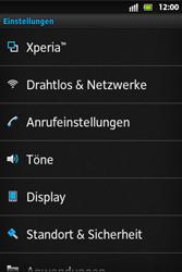 Sony Xperia Go - Anrufe - Rufumleitungen setzen und löschen - 4 / 9
