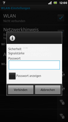 Sony Xperia U - WLAN - Manuelle Konfiguration - Schritt 8