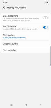 Samsung Galaxy Note 10 Plus 5G - Netzwerk - So aktivieren Sie eine 4G-Verbindung - Schritt 6