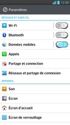 LG Optimus F6 - Internet et connexion - Désactiver la connexion Internet - Étape 4