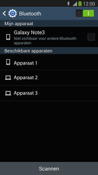 Samsung N9005 Galaxy Note III LTE - Contactgegevens overzetten - delen via Bluetooth - Stap 10