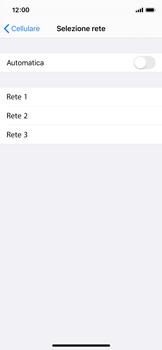 Apple iPhone X - iOS 13 - Rete - Selezione manuale della rete - Fase 6