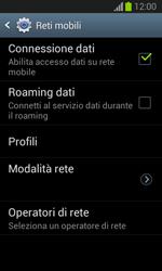 Samsung Galaxy Trend Lite - Internet e roaming dati - Come verificare se la connessione dati è abilitata - Fase 7