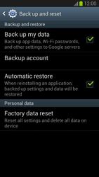 Samsung Galaxy S III - Mobile phone - Resetting to factory settings - Step 5