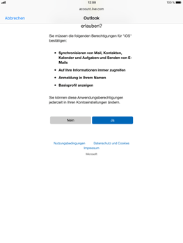 Apple iPad Mini 4 - E-Mail - Konto einrichten (outlook) - 1 / 1