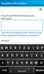 BlackBerry Z10 - Apps - Konto anlegen und einrichten - Schritt 12
