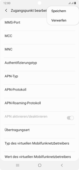 Samsung Galaxy Note 20 Ultra 5G - MMS - Manuelle Konfiguration - Schritt 15