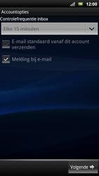 Sony Ericsson MT15i Xperia Neo - E-mail - handmatig instellen - Stap 9