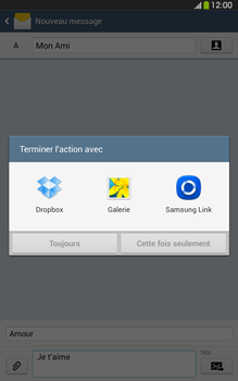 Samsung Galaxy Tab 3 8 4G - Contact, Appels, SMS/MMS - Envoyer un MMS - Étape 15