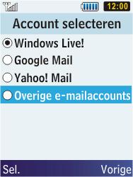 Samsung C3350 Xcover 2 - E-mail - Handmatig instellen - Stap 12
