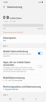 Samsung Galaxy S20 5G - Internet und Datenroaming - Prüfen, ob Datenkonnektivität aktiviert ist - Schritt 7