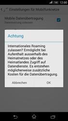 Sony Xperia E4G - Ausland - Im Ausland surfen – Datenroaming - 10 / 13