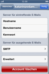 Apple iPhone 3GS - E-Mail - Manuelle Konfiguration - Schritt 17