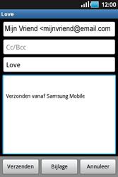 Samsung S5660 Galaxy Gio - E-mail - e-mail versturen - Stap 6