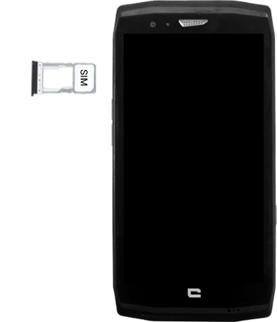 Crosscall Trekker X4 - Premiers pas - Insérer la carte SIM - Étape 4