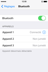 Apple iPhone 4S iOS 7 - Bluetooth - Jumelage d