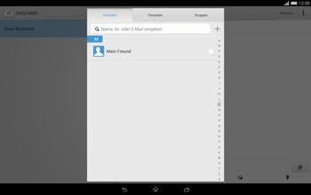Sony Xperia Tablet Z2 LTE - MMS - Erstellen und senden - 9 / 22