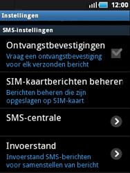 Samsung S5570 Galaxy Mini - SMS - Handmatig instellen - Stap 4