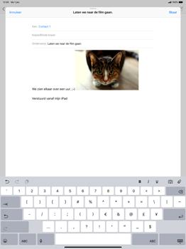 Apple ipad-pro-12-9-inch-2018-model-a1895 - E-mail - Bericht met attachment versturen - Stap 12