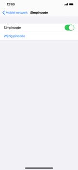 Apple iPhone XS Max - iOS 13 - Beveiliging - Stel de pincode voor je simkaart in - Stap 12