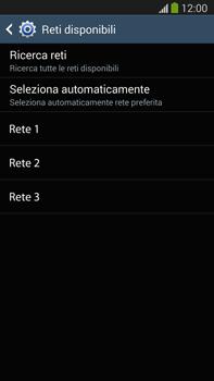 Samsung Galaxy Note III LTE - Rete - Selezione manuale della rete - Fase 8