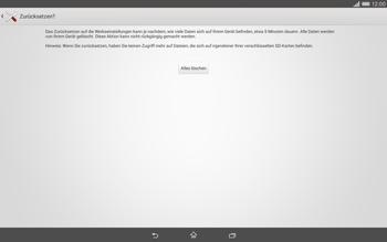 Sony Xperia Tablet Z2 LTE - Gerät - Zurücksetzen auf die Werkseinstellungen - Schritt 7