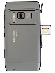 Nokia N8-00 - SIM-Karte - Einlegen - Schritt 3