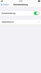 Apple iPhone 8 - iOS 13 - Anrufe - Rufumleitungen setzen und löschen - Schritt 6