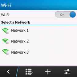 BlackBerry Q10 - WiFi - WiFi configuration - Step 7