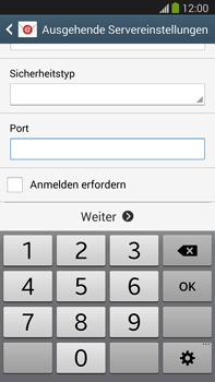 Samsung Galaxy Note III LTE - E-Mail - Manuelle Konfiguration - Schritt 14