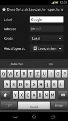 Sony Xperia V - Internet und Datenroaming - Verwenden des Internets - Schritt 8