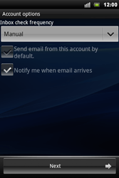 Sony Xperia Mini Pro - E-mail - Manual configuration - Step 9