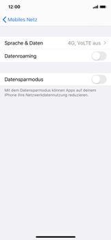 Apple iPhone X - iOS 13 - Netzwerk - Netzwerkeinstellungen ändern - Schritt 5