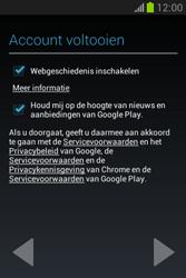 Samsung S6790 Galaxy Fame Lite - apps - account instellen - stap 20