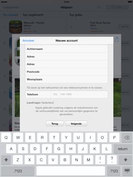 Apple iPad 4th generation (Retina) met iOS 7 - Applicaties - Account aanmaken - Stap 22