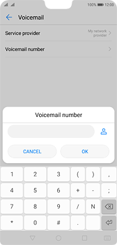 Huawei P20 - Voicemail - Manual configuration - Step 8