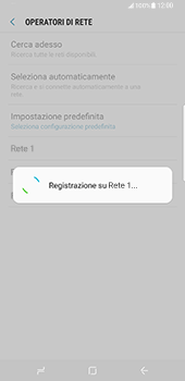 Samsung Galaxy S8 Plus - Rete - Selezione manuale della rete - Fase 10