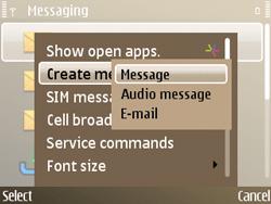 Nokia E72 - MMS - Sending pictures - Step 4