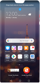 Huawei P20 Pro - Getting started - Installing widgets and applications on your start screen - Step 7