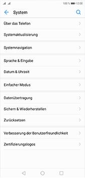 Huawei P20 Pro - Gerät - Zurücksetzen auf die Werkseinstellungen - Schritt 4