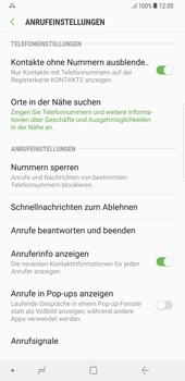 Samsung Galaxy S8 Plus - Android Oreo - Anrufe - Anrufe blockieren - Schritt 6