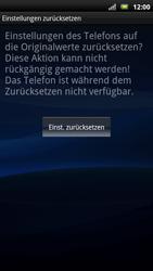 Sony Ericsson Xperia X10 - Fehlerbehebung - Handy zurücksetzen - Schritt 9