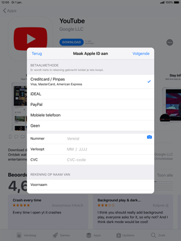 Apple ipad-mini-5-7-9-inch-2019-model-a2124 - Applicaties - Account aanmaken - Stap 19