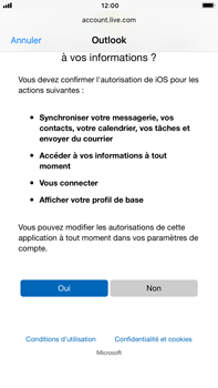 Apple iPhone 8 Plus - E-mail - 032c. Email wizard - Outlook - Étape 8